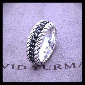 David Yurman black diamond size 7.75